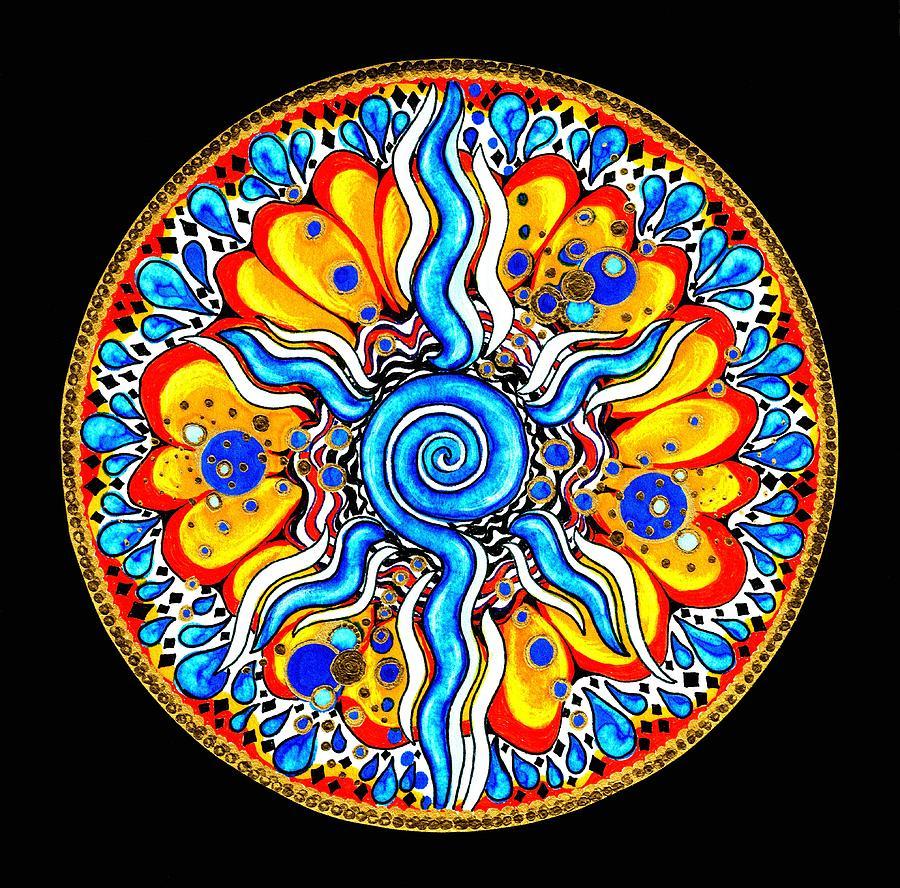 Mandala Painting - Tears Of Joy by Pam Ellis