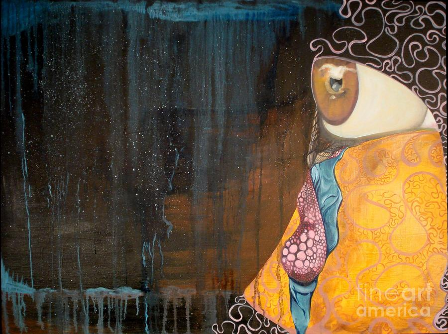 Eye Painting - Tears Of Life by Victoria Dietz