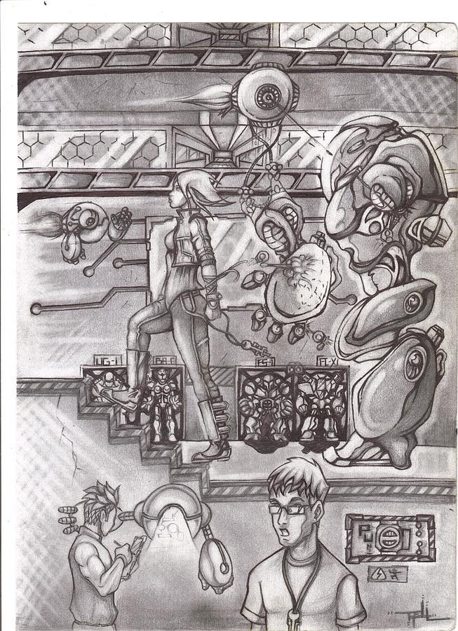 Original Drawing - Tec Advancement  by Terrelle Jordan