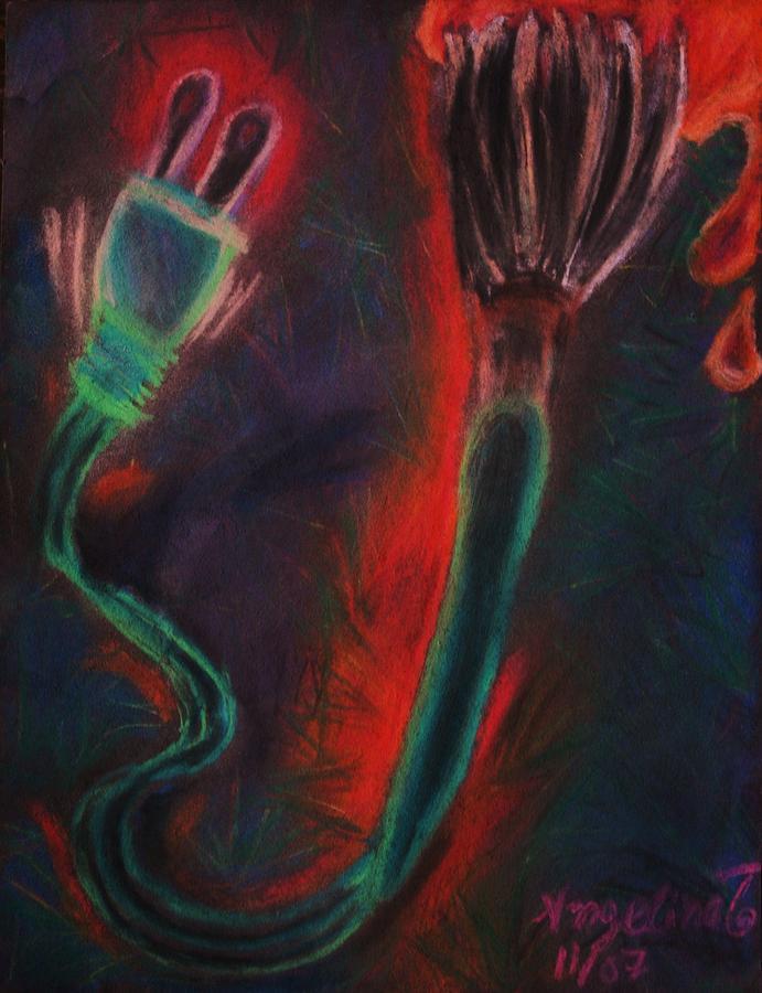 Paintbrush Pastel - Technology Art by Angelina G T