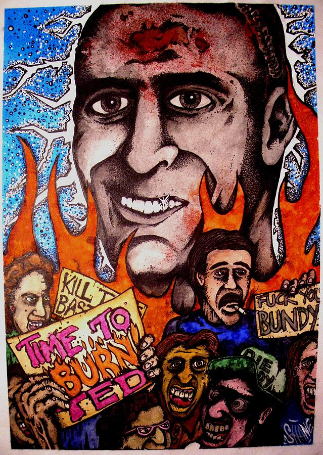 Serial Killer Mixed Media - Ted Bundys Last Smile by Sam Hane