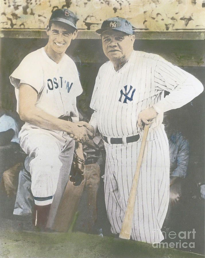Ted Williams And Babe Ruth Photograph by Susan Bock