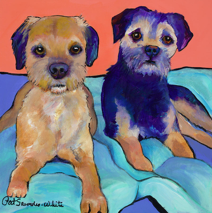 Teddy and Max by Pat Saunders-White
