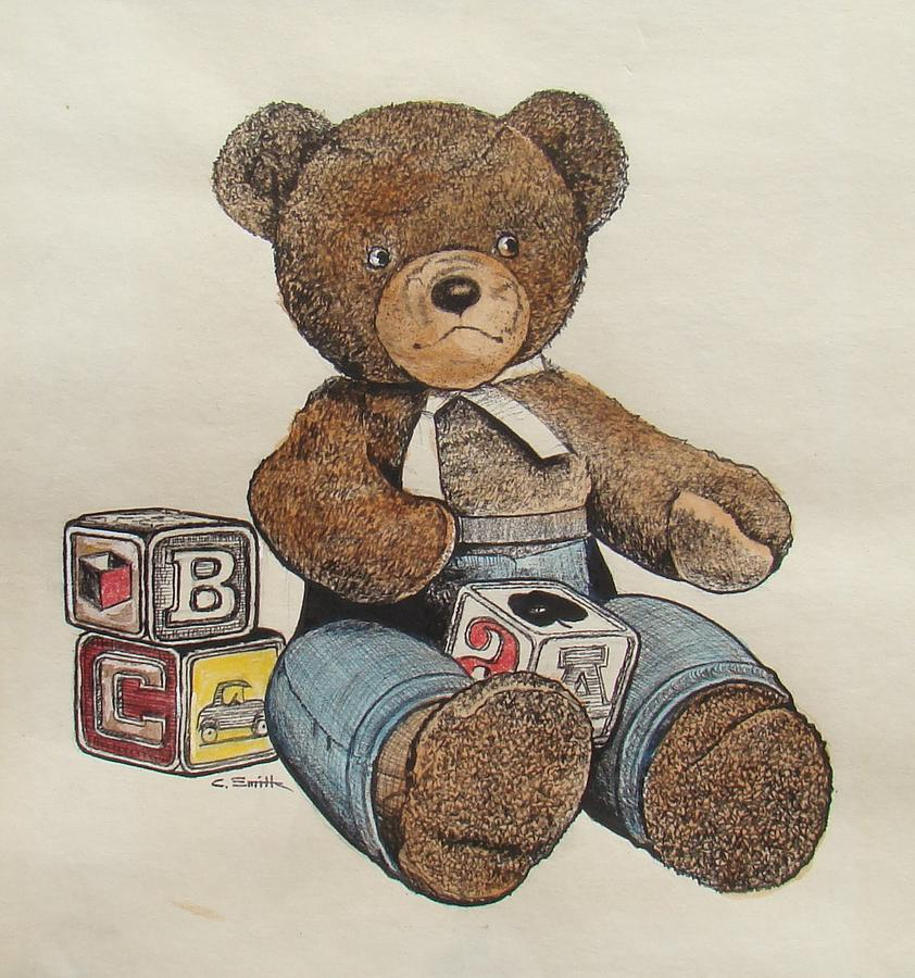 Teddy Bear Drawing By Charles Roy Smith
