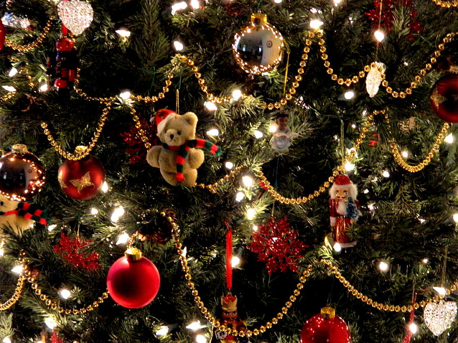 ornaments photograph teddy bear christmas by arlane crump