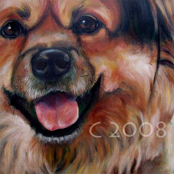 Teddy Bear Painting by Lucky Dogs