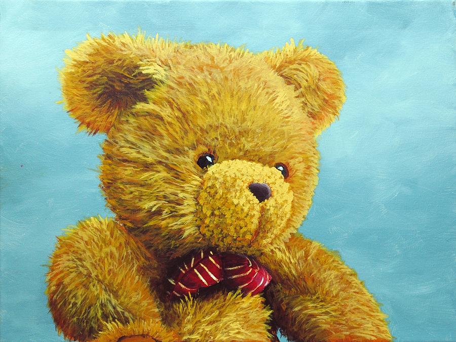 Acrylic Painting - Teddy Bear by Nolan Clark