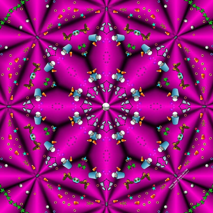 Kaleidoscope Digital Art - Teddy Bear Tears 1217k8 by Brian Gryphon