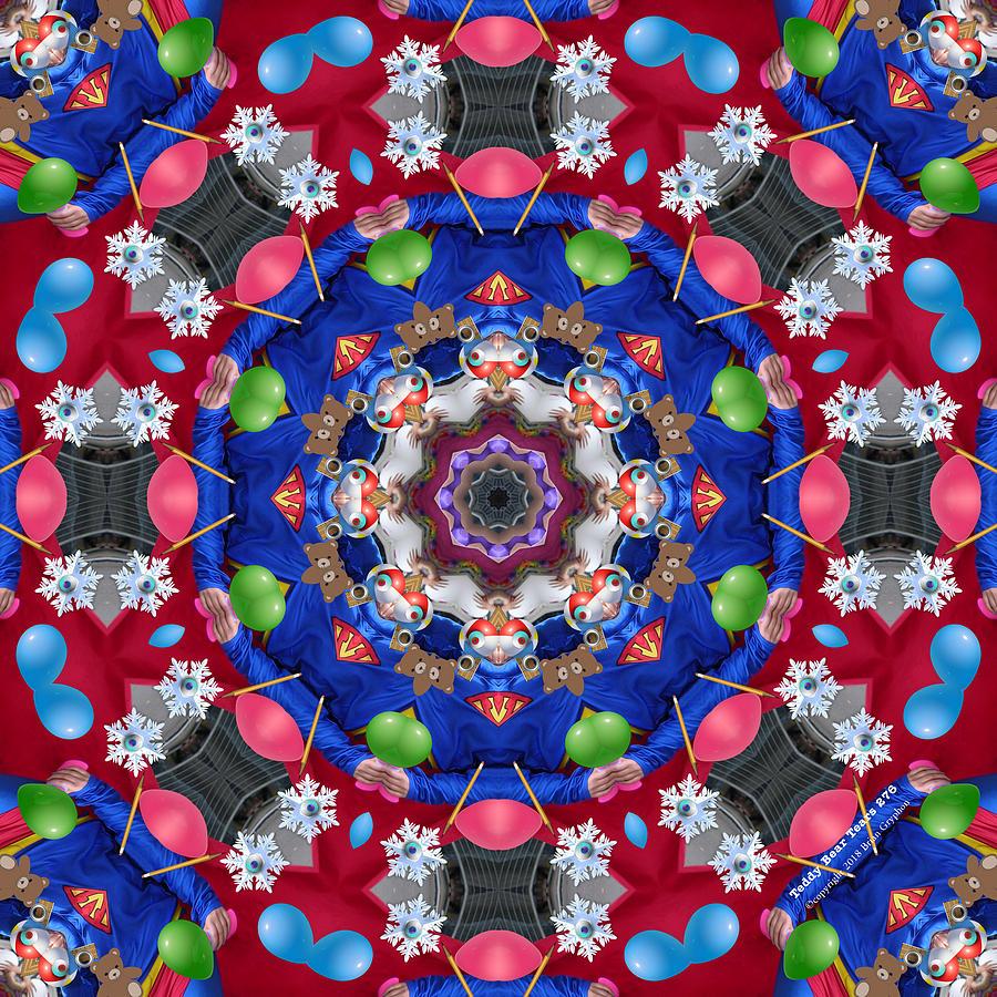 Kaleidoscope Digital Art - Teddy Bear Tears 276k8 by Brian Gryphon