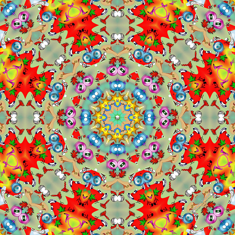 Kaleidoscope Digital Art - Teddy Bear Tears 420k8 by Brian Gryphon