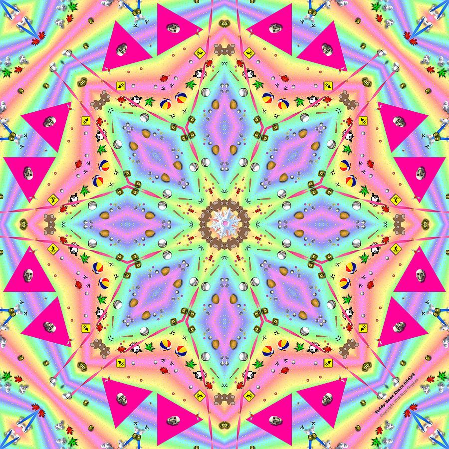 Kaleidoscope Digital Art - Teddy Bear Tears 854k8 by Brian Gryphon