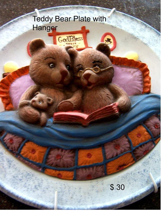 Teddy Bear Ceramic Art - Teddy Bear by Vijay Sharon Govender