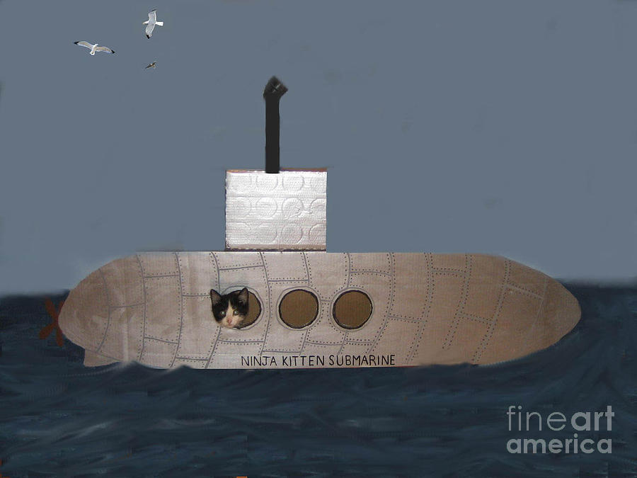 teddy in submarine photograph by reb frost