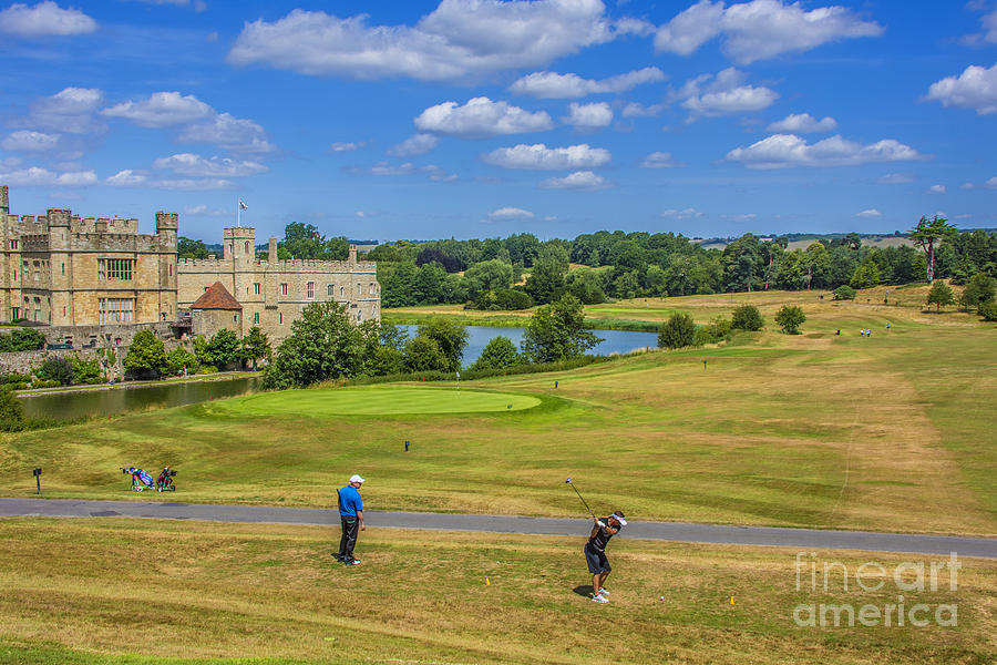 Teeing Off At Leeds Castle Photograph