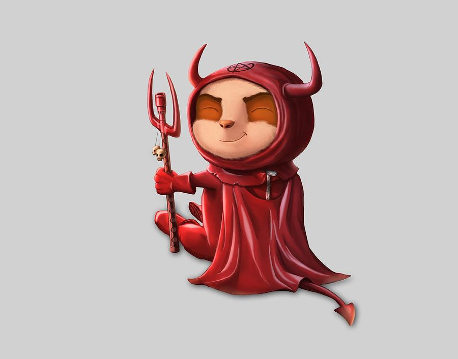 Teemo The Satan Png Painting By Carlos M R Alves