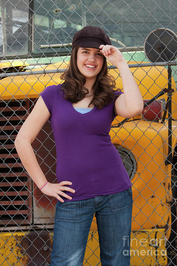 Teen In Purple Photograph