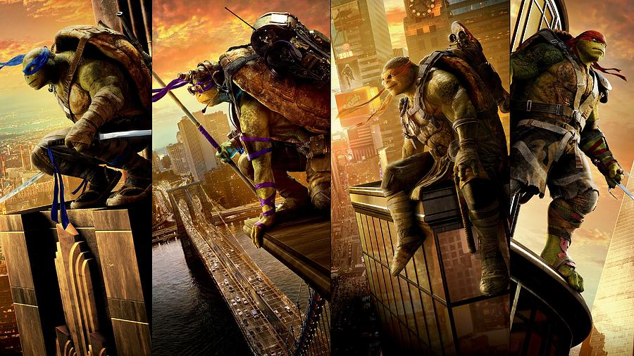 Teenage Mutant Ninja Turtles Out Of The Shadows Digital Art By Movie Poster Prints