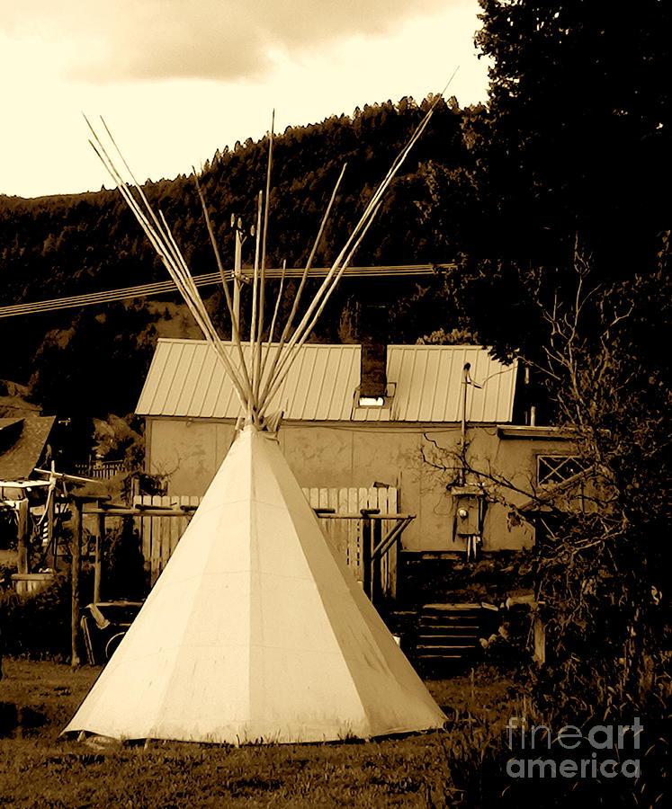 Photograph Digital Art - Teepee In Montana by Karen Francis