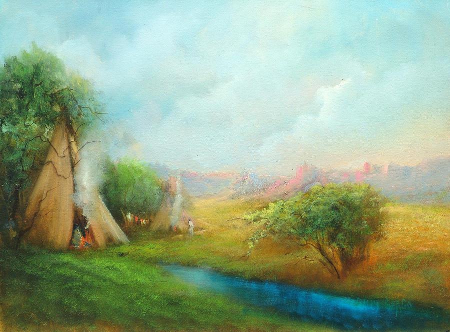 Tee pee paintings