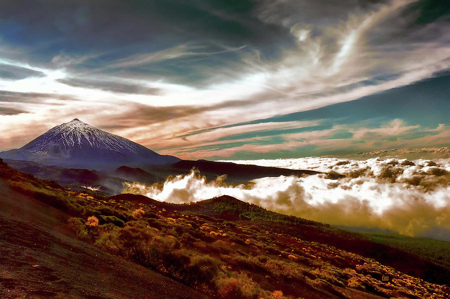 Mount Teide Photograph - Teide Volcano - Rolling Sea Of Clouds At Sunset by Menega Sabidussi