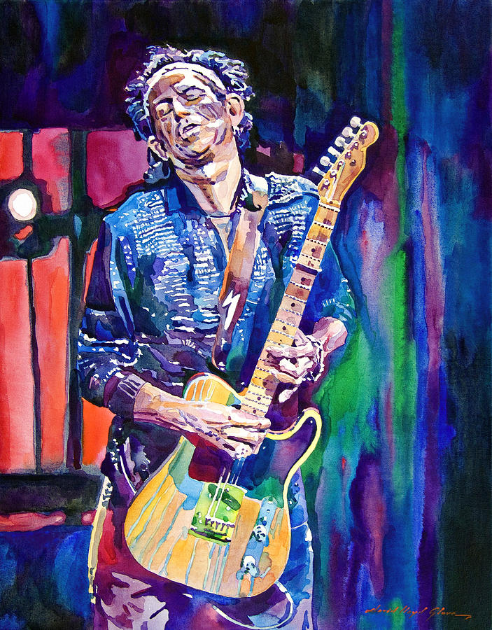 Keith Richards Painting - Telecaster- Keith Richards by David Lloyd Glover