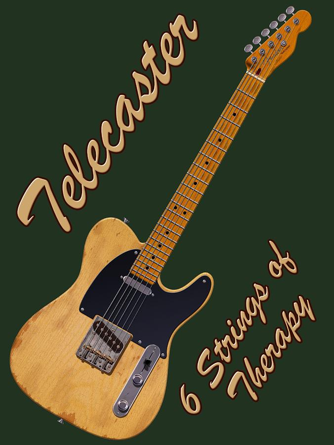 Telecaster Photograph - Telecaster Therapy T-shirt by WB Johnston