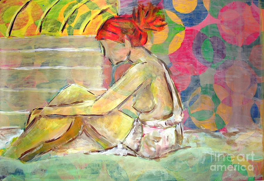 Woman Painting - Telepathy by Nyna Niny