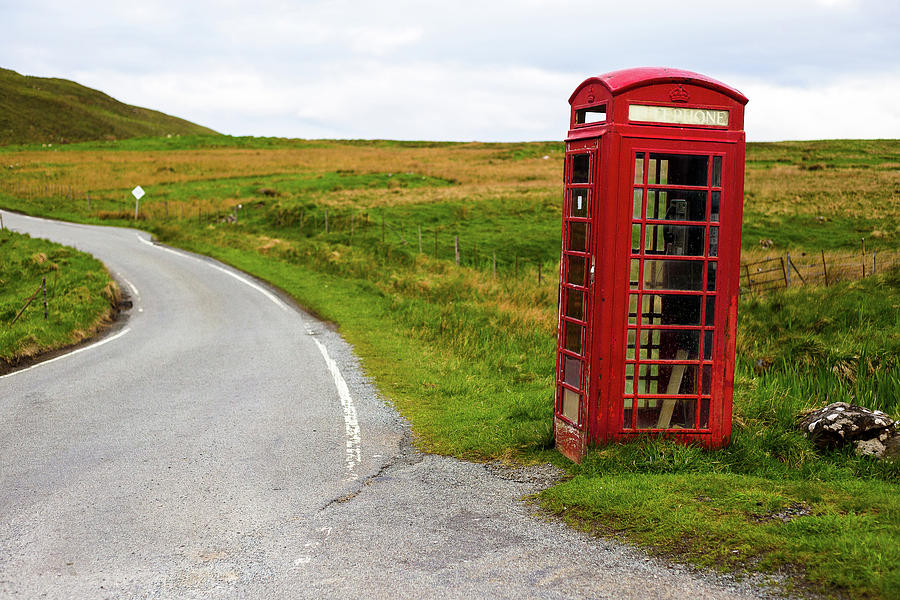 Telephone Booth On Isle Of Skye Photograph