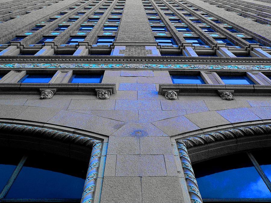 San Antonio Photograph - Telephone Building With Indigo Reflections by Edgar Farrera