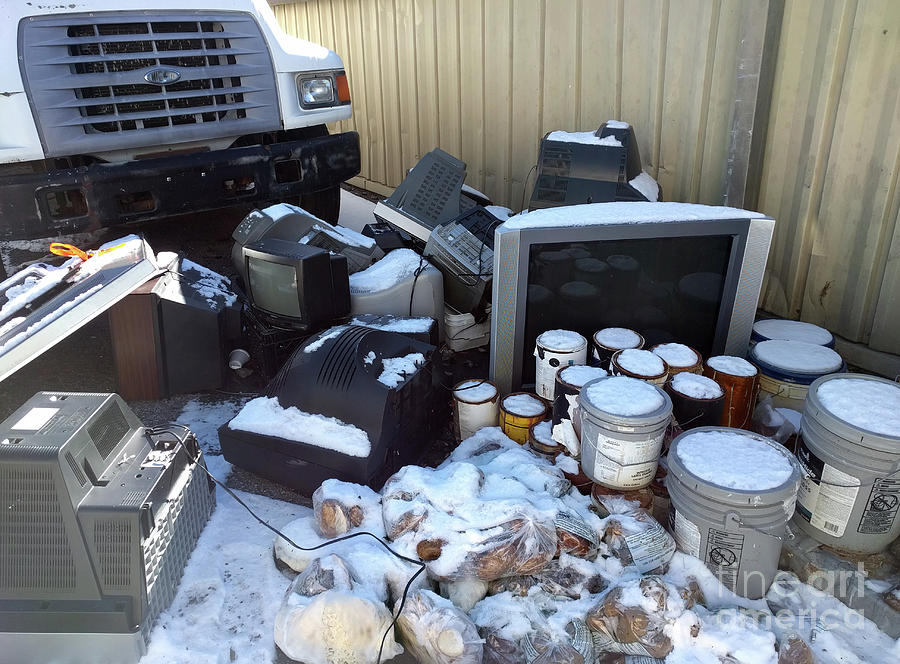 Televisions Photograph - Televisions Paint Donated Potatoes  by Steven Digman