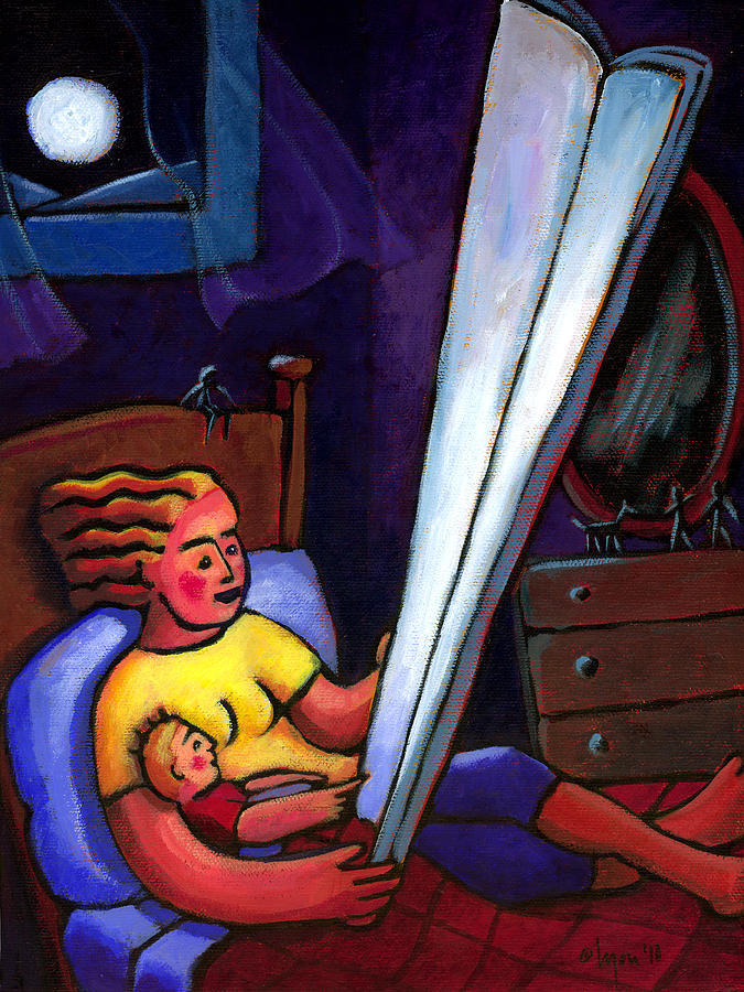 Moonlight Painting - Telling Tall Tales by Angela Treat Lyon