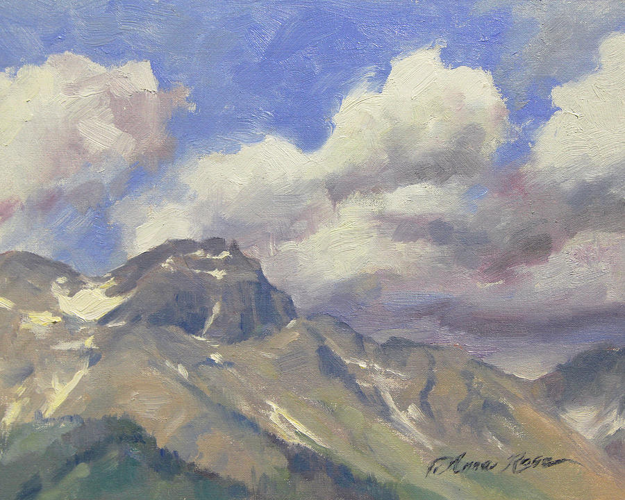 Telluride Painting - Telluride Clouds by Anna Rose Bain