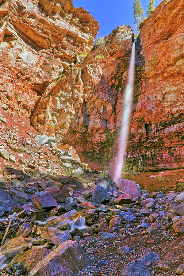 Telluride Photograph - Telluride, Colorados Cornet Falls - Colorful Colorado - Waterfall by Jason Politte