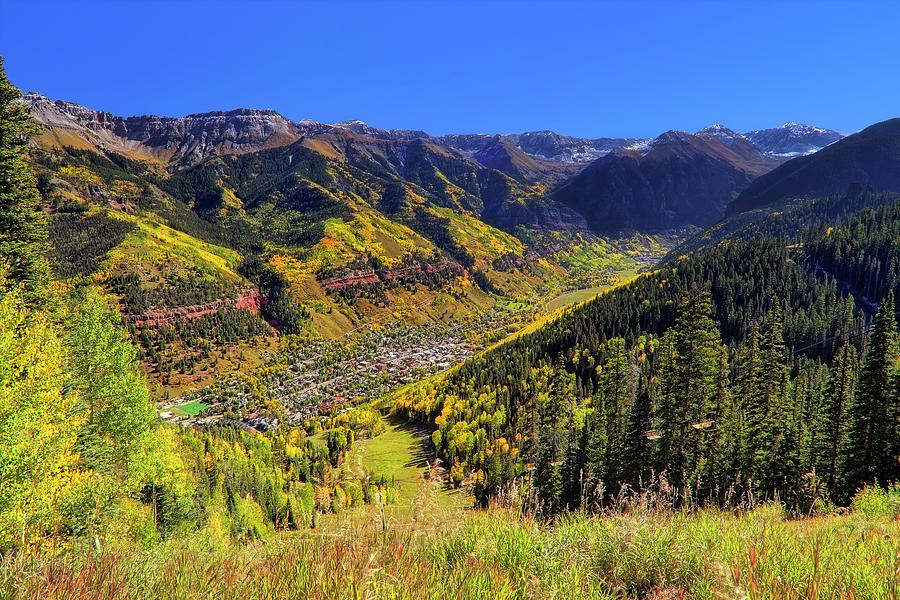 Telluride Photograph - Telluride In Autumn - Colorful Colorado - Landscape by Jason Politte