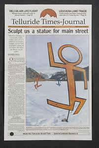 Telluride Times Journal Painting by M D