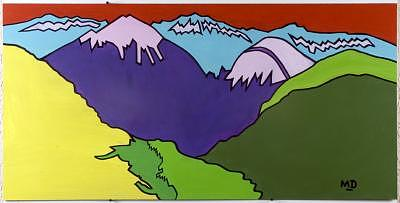 Colorado Painting - Tellurides Valley Floor by M D
