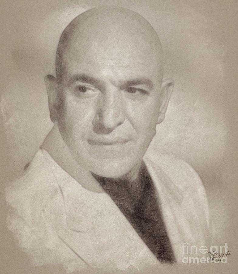 Hollywood Drawing - Telly Savalas, Actor - Kojak by John Springfield