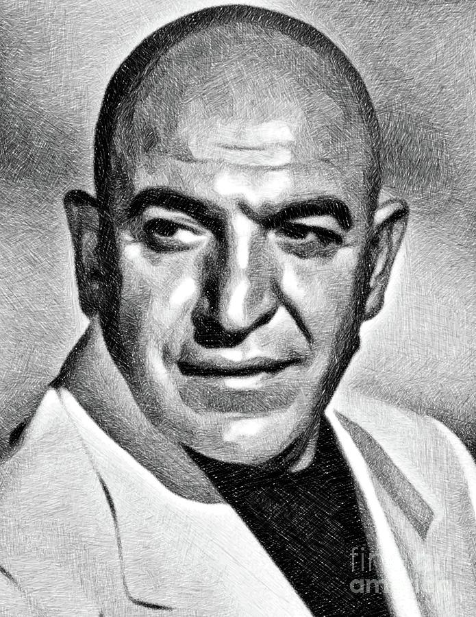 Telly Savalas, Vintage Actor By Js Drawing