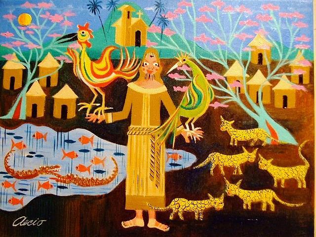 Tema Sao Fransisco De Assis E A Fauna Medida 30x40 A.s.t Painting by Aecio  Andrade
