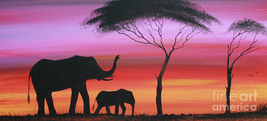 Painting Painting - Tembo by Abu Artist