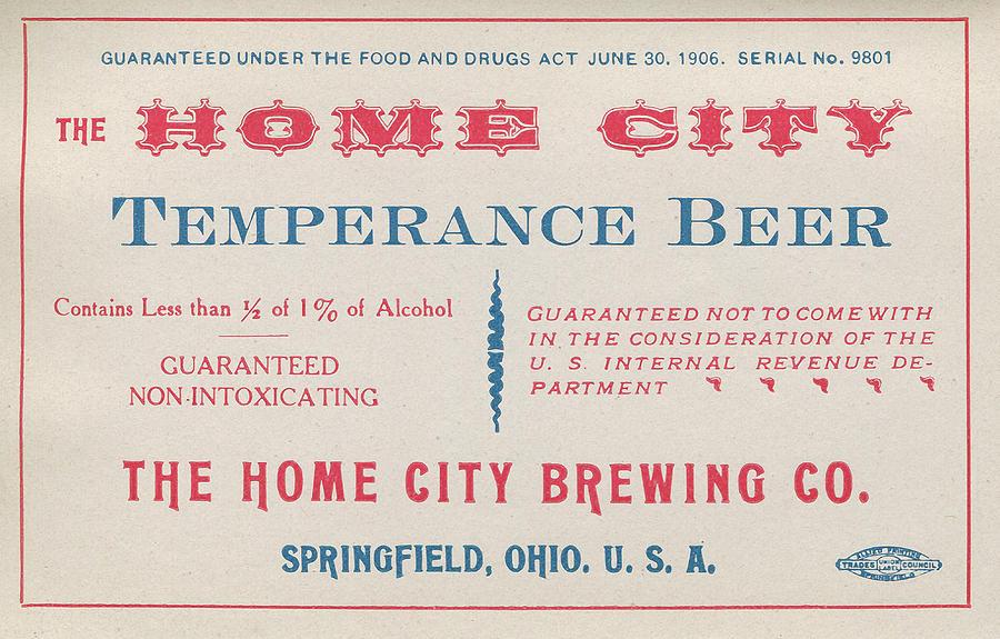 Alcohol Photograph - Temperance Beer Label by Tom Mc Nemar