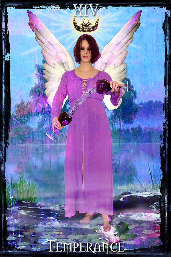Divine Digital Art - Temperance by Tammy Wetzel