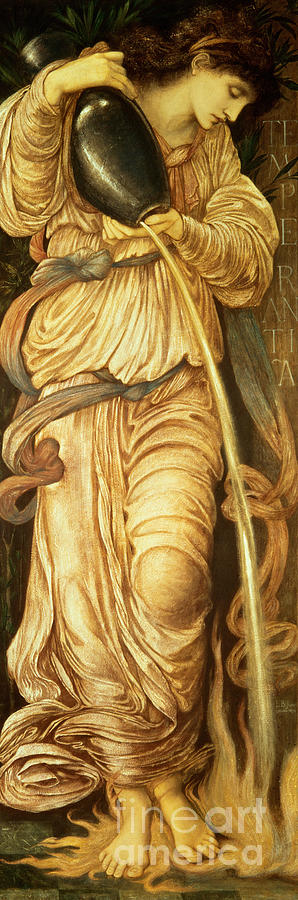 Burne Jones Painting - Temperantia, by Edward Coley Burne-Jones