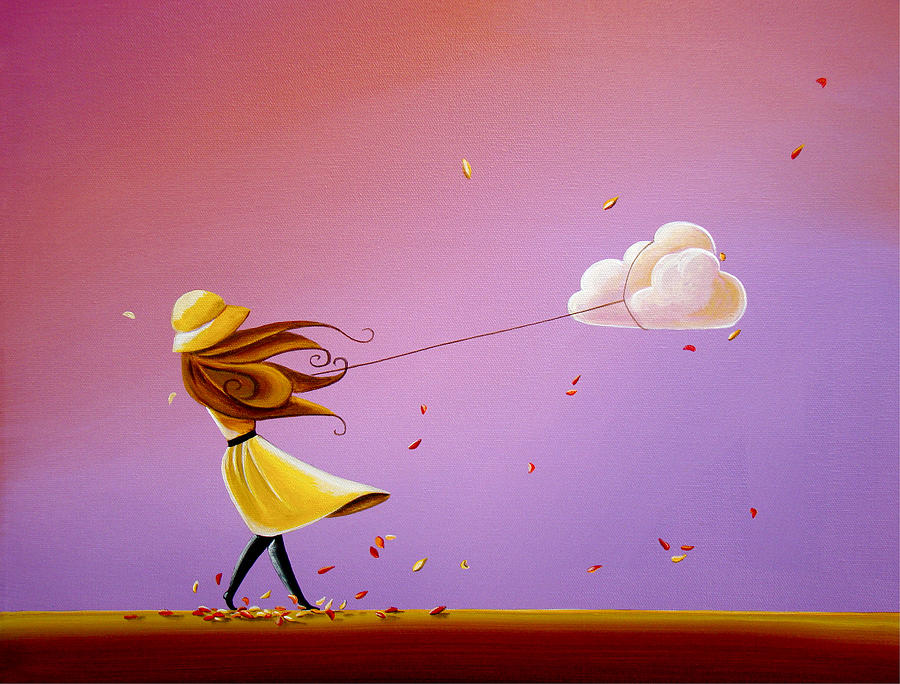 Girl Painting - Tempestuous by Cindy Thornton