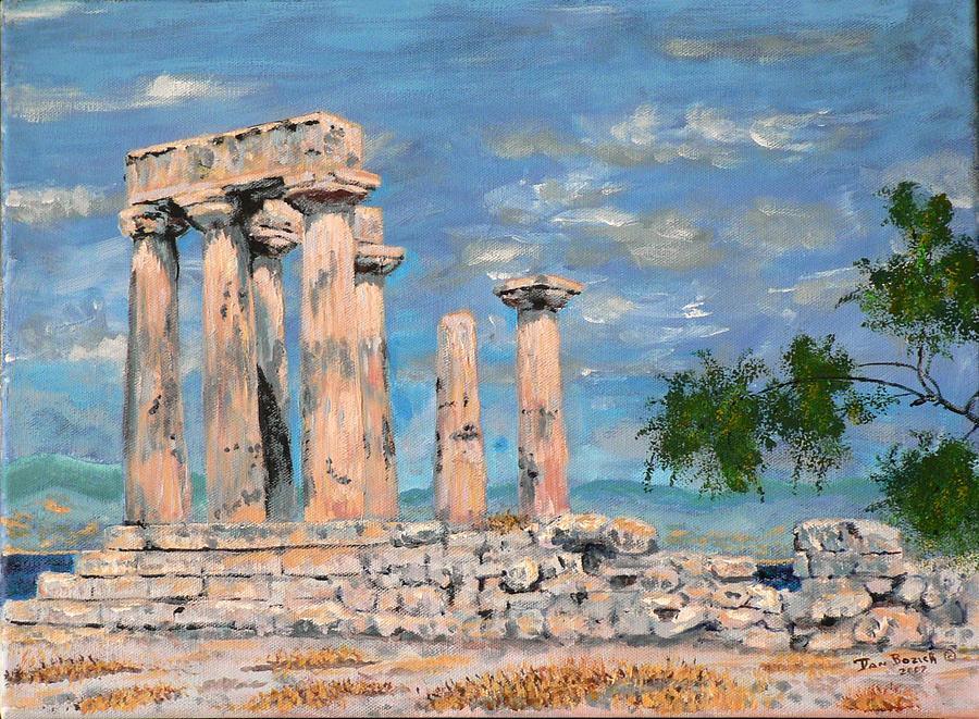 Landscape Painting - Temple of Apollo  by Dan Bozich