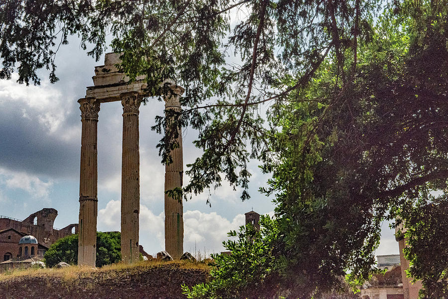 Italia Photograph - Temple Of Castor And Pollux by Joseph Yarbrough