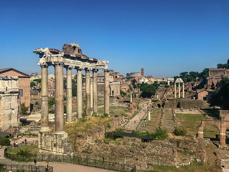 Capitoline Hill Photograph - Temple Of Saturn by Joseph Yarbrough