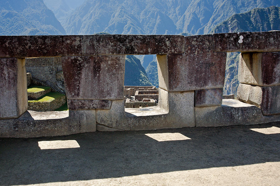 Temple Of The 3 Windows In Machu Picchu Photograph