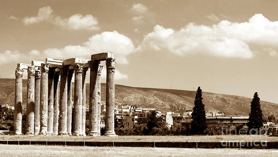 Temple Of Zeus Photograph - Temple Of Zeus by John Rizzuto