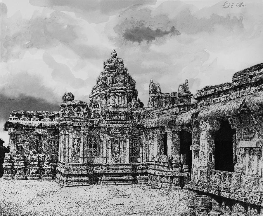 Ruins Drawing - Temple Ruins by Paul Illian